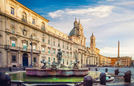 Piazza Navona in the morning