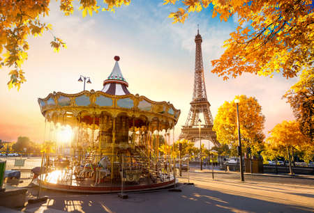 Carousel in autumn