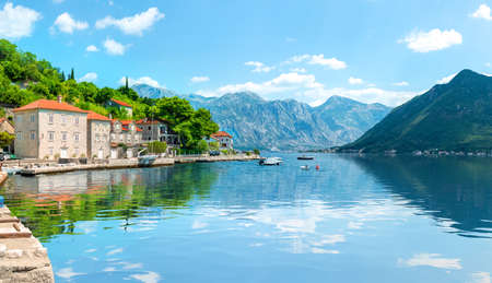 Bay of Kotor in Montenegro 版權商用圖片