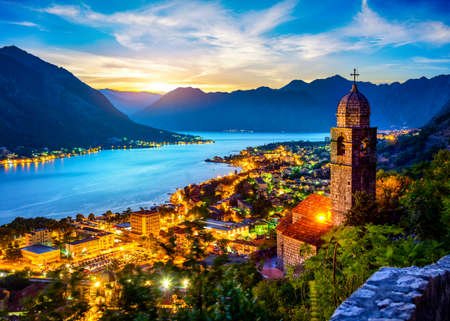 Beautiful view of Church of Our Lady in Kotor