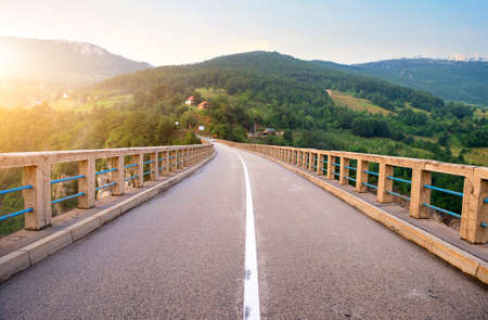 Montenegro. Dzhurdzhevich Bridge Over The River Tara Stock Photo
