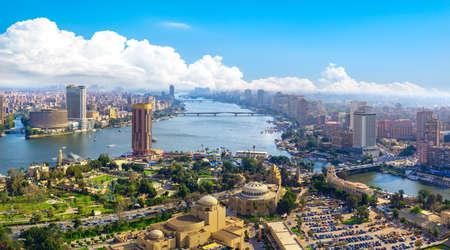 Panorama of Cairo cityscape