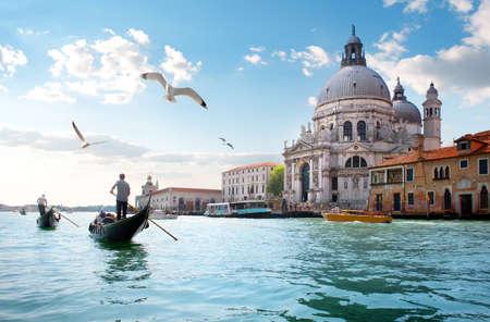 Old cathedral of Santa Maria della Salute in Venice, Italy Standard-Bild