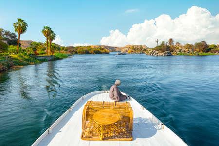 Tourist boat on river Nile