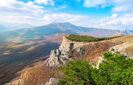 Mountains in the valley of ghosts. Crimea