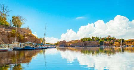 Nile in Aswan at day
