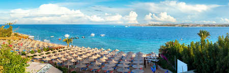Beach in overlooking Sea Banco de Imagens