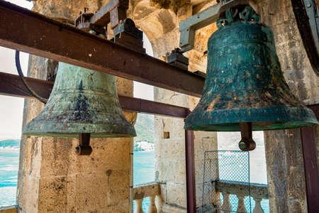 Old bells in a tower Banco de Imagens