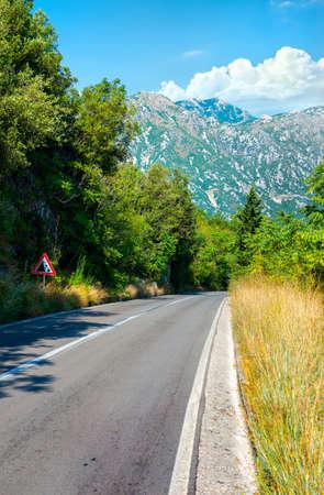 Mountain road in Montenegro