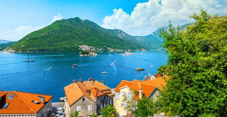 Beautiful view of Bay of Kotor in spring