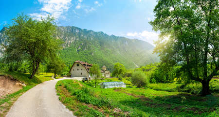 Road near monastery Dobrilovina Banco de Imagens