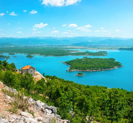 Mountains and Skadar lake Banco de Imagens