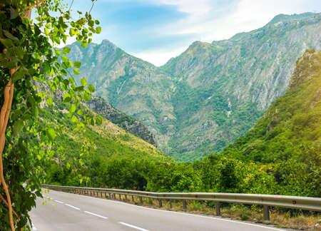 Winding road in Montenegro
