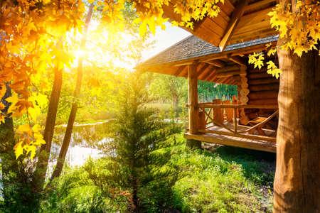 House at autumn