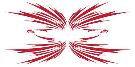 freedom logo: �guilas s�mbolo aislado en blanco para el dise�o - tambi�n como emblema o logotipo Vectores