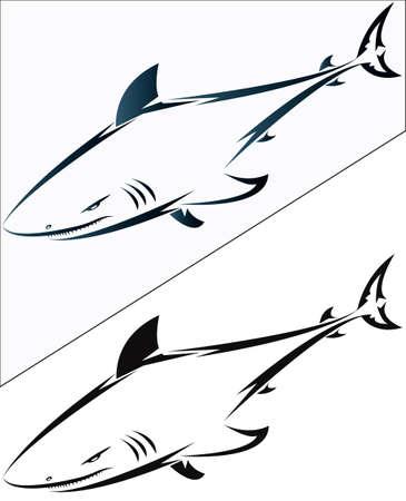 logo poisson:  Requins pour desigh et tatouage
