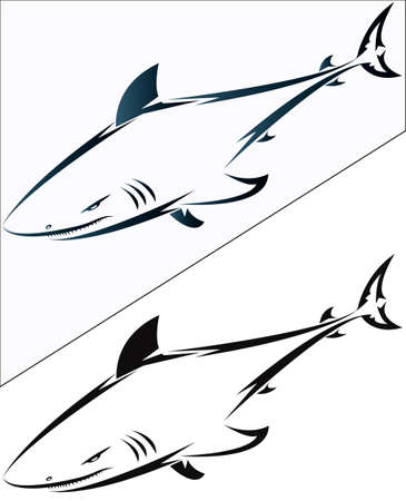 tail fin:  Sharks for desigh and tattoo