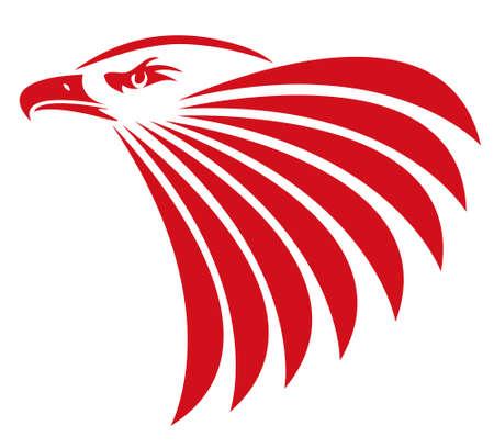 Illustration of a head eagle