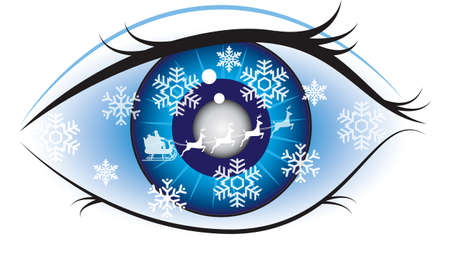 Christmas eye - a winter theme background Vector