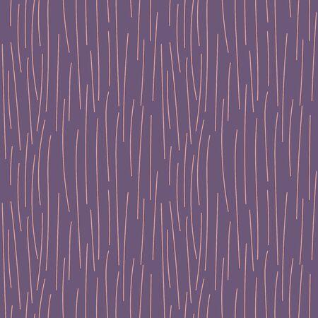 Light pink long vertical stripes on a purple background. Seamless vector illustration. Abstract graphic design.Vector template for website design, packaging paper design, wallpaper, postcards, covers Ilustração