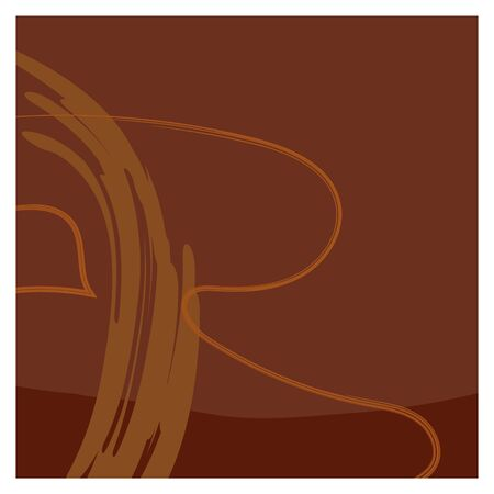 Dark brown isolated background with random orange and brown smears. Quiet unobtrusive and matching colors. You can use it as a background for the design of a social network, magazine, fabric or paper.