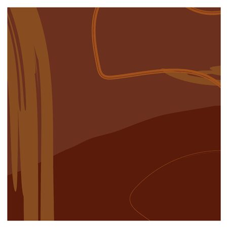Dark brown isolated background with random orange and brown smears. Quiet unobtrusive and matching colors. You can use it as a background for the design of a social network, magazine, fabric or paper