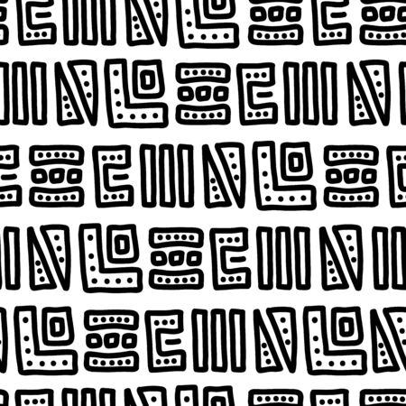 Ethnic background of large black and white elements. African ornament. Seamless pattern with large black and white patterns. Use it as a background for the design of a social network or magazine