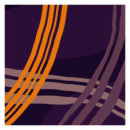 A set of twelve abstract isolated backgrounds. Hand-drawn brush strokes and scribble objects. Modern fashion vector illustration. Soft purple sand tones. Stock vector illustration. Copy space Ilustração