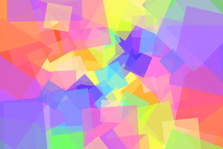 Many colored squares in different sizes 矢量图像