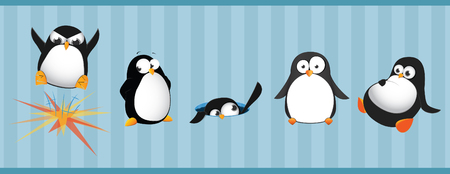 Funny penguins Stock Vector - 5461284