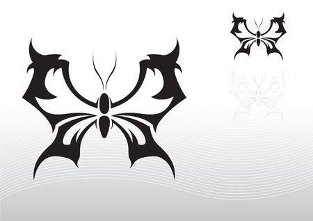 Butterfly tattoo tribal Illustration
