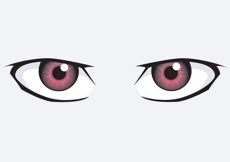 glowing skin: Ojos color rosas