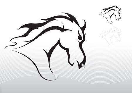 Horse tattoo tribal Illustration