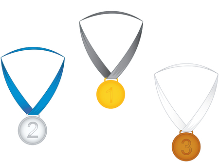 sports competition medals Illustration