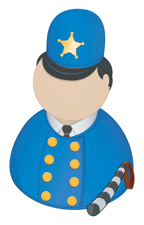 Policeman icon Stock Vector - 5469810