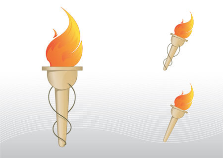 colourful fire: Torch