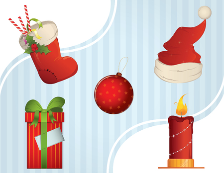Christmas icons  items Illustration