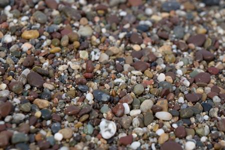 Pebble beach surface Banco de Imagens