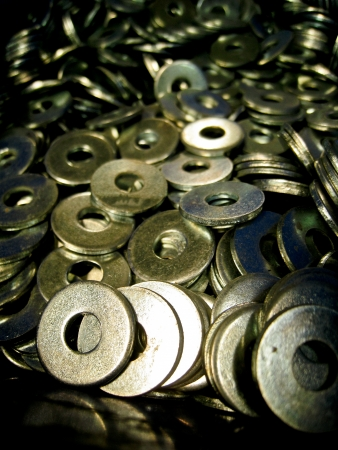 close fitting: A lot of steel washers