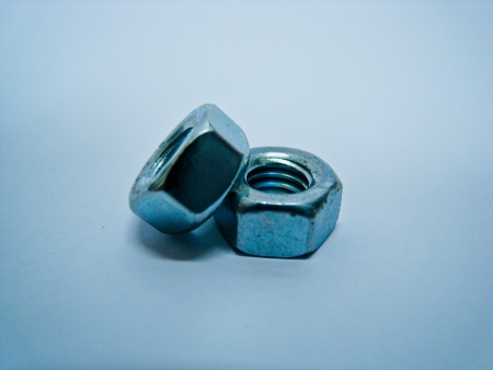 Two steel nuts photo