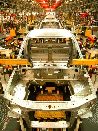 lopende band: Auto assemblagelijn Stockfoto