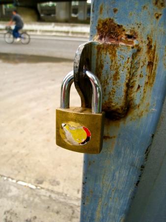 Lock and rusty door photo