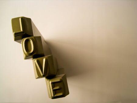 Love on steel charactor Stock Photo - 14912794