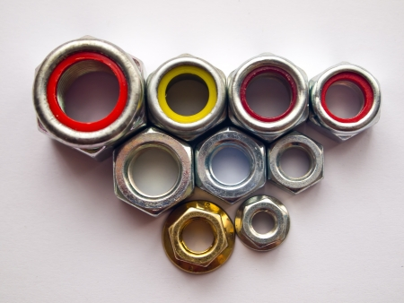 Variety steel nuts photo