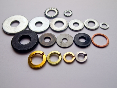 Variety steel washers photo