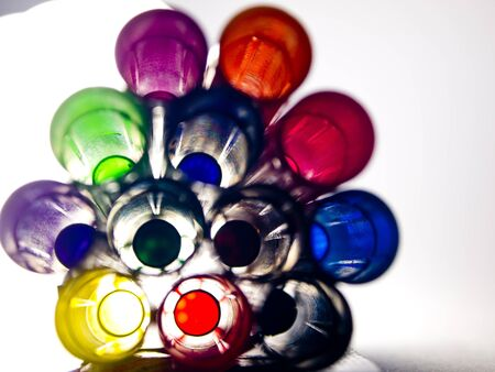 Colorful lighting pens photo