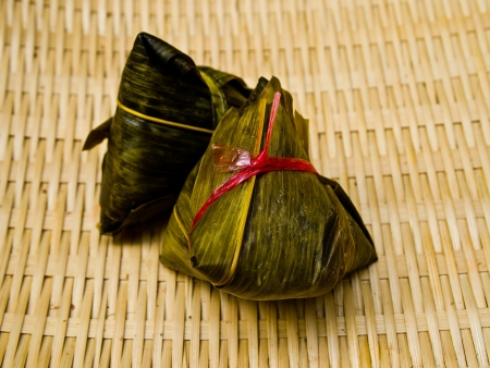 Zongzi in basketwork