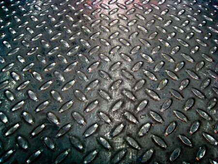 Black steel floor pattern Stock Photo - 15151590