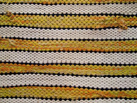 Yellow stripe rug pattern1