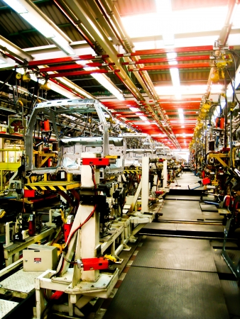 Cab body welding assembly line2